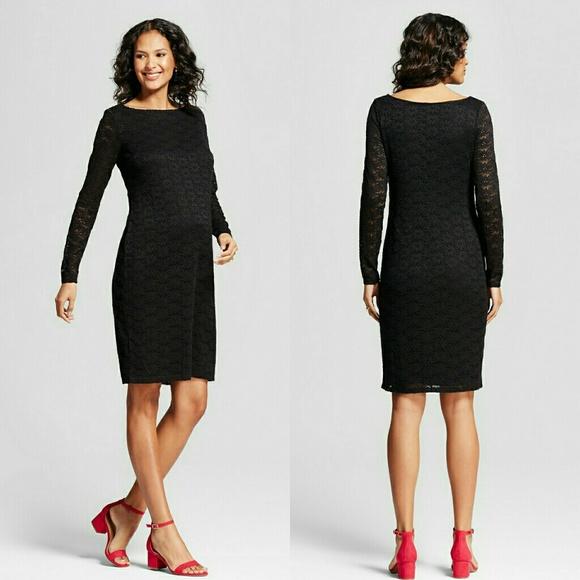 a4d548c3039 Ingrid   Isabel Black Floral Lace Maternity Dress